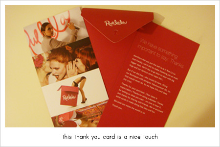 rue la la thank you card